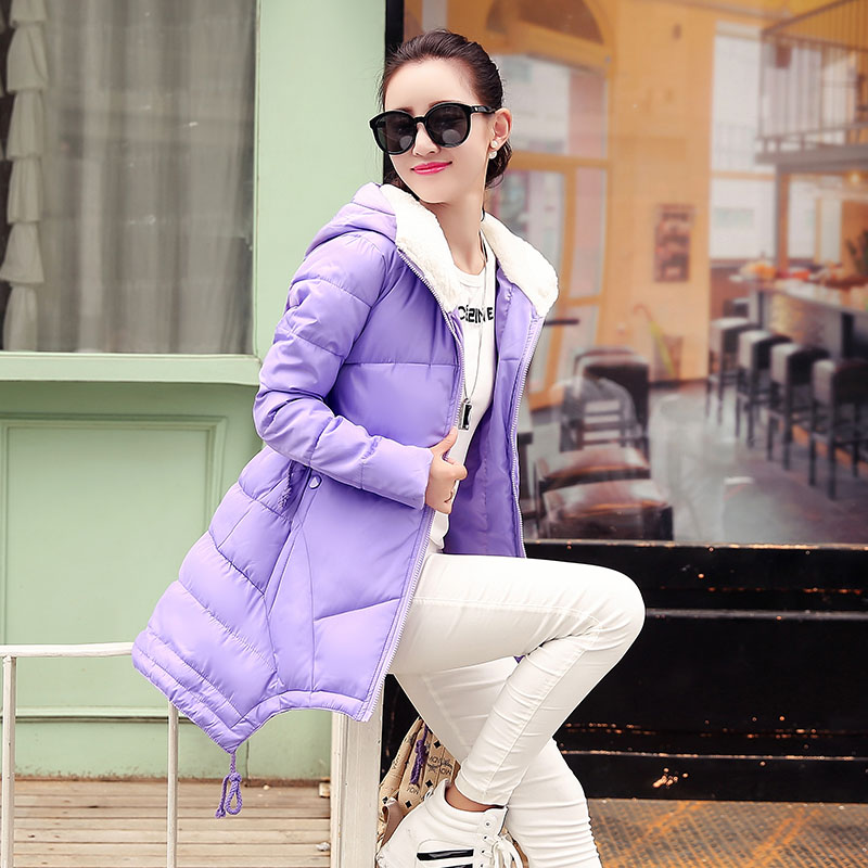 ФОТО Slim Fit Women Coat Dovetail Cotton Padded Jacket Mid-Long Female Down Coat Winter Warm Clothes For Lady Clothing Plus Size