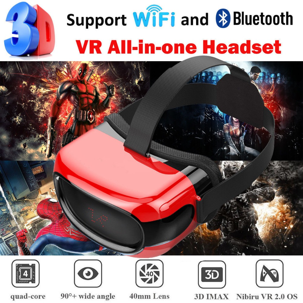 Cawono All in one 3D VR Glassess Headset VR box With Wifi Bluetooth 4.0 Virtual Reality for xiaomi Android Smartphones 5.1 vinyl pvc wood wallpaper roll 3d effect retro decorative cork plaid wine box backdrop wallpaper papel de parede madeira