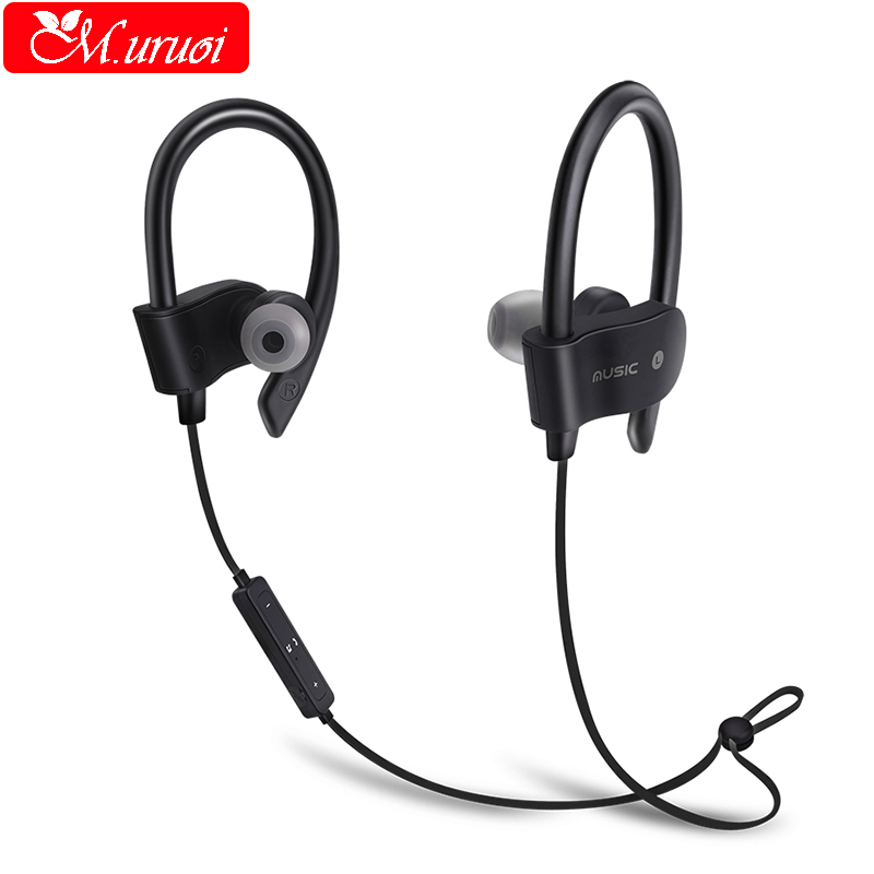 M.uruoi Sport Headset Wireless Bluetooth Earphone Waterproof Bass Headphone For Phone iphone 7 With Mic Earpiece In Ear Kulakl k