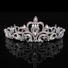 1 Pcs Diamond Tiara Crown Hair Sticks Women Headdress Bridal Prom Elegant Fashion Hair Bands
