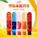 Cinco tipos de gosto de sexo oral lubrificante corpo óleo 80 ml de água-base de lubrificação para o sexo 80 ml/garrafa de produtos do sexo