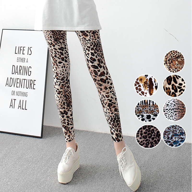 Leopard Legging Women Animal Print Leggings Sexy Casual Soft Stretchy Attractive Spring Summer Leggins Free Size