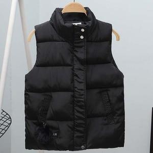 Image 2 - Women Vest Mandarin Collar Sleeveless Short Coat Women Jacket Waistcoat Female Plus Size Chalecos Para Mujer 2020 Autumn Winter
