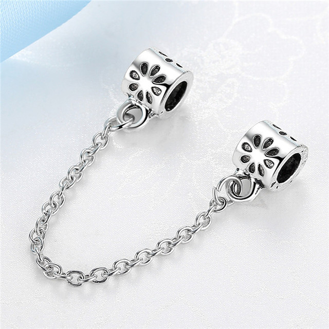 858ceaf15 ... bracelet uk outlet 5fe96 b2aef; sale jclowsexy free shipping new 2017  safety chain bead fit pandora women bracelets bangles diy beads