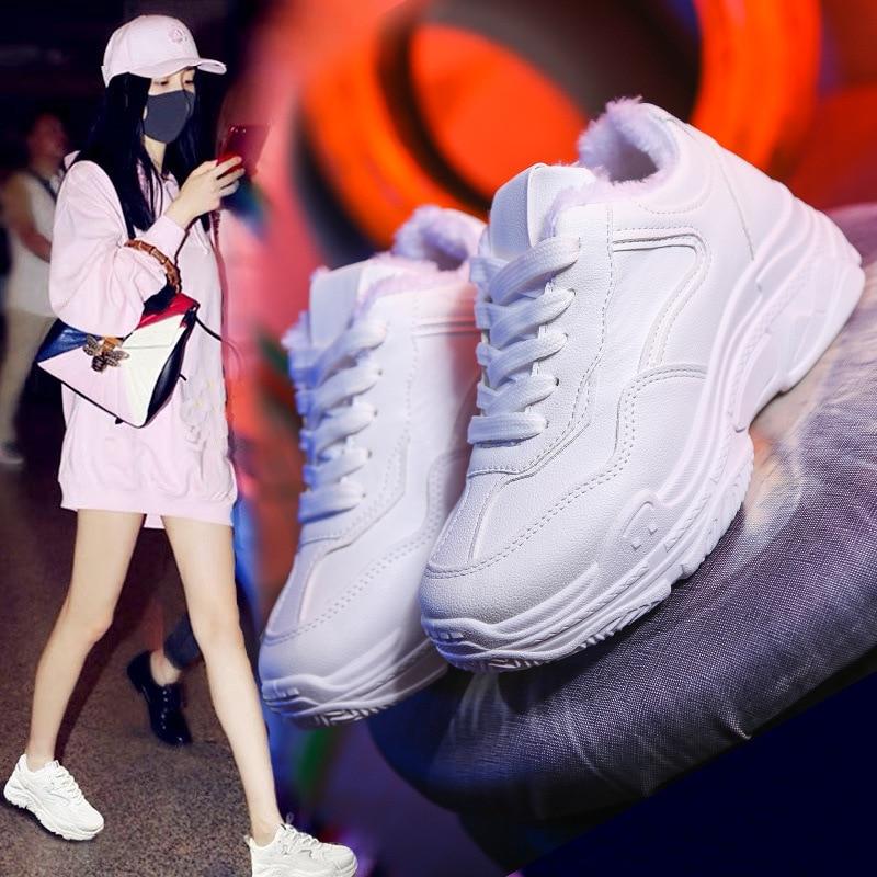 Chaussures Femme baskets plat marche plateforme Sport chaussures blanc baskets Basket Femme chaussures papa décontracté Tenis Feminin S0557