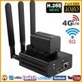HEVC H.265/H.264 3G/4G LTE 1080 p HD HDMI codificador de vídeo transmisor HDMI transmisión en directo codificador inalámbrico H264 IPTV Encoder WIFI