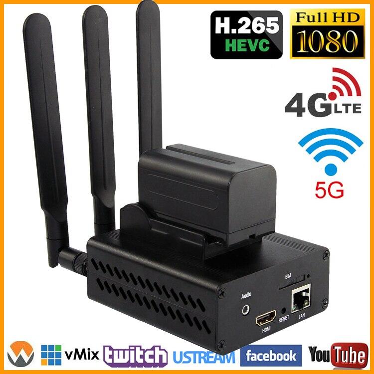 HEVC H.265/H.264 3G/4G LTE HDMI 1080P HD Codificador De Vídeo HDMI Transmissor Transmissão Ao Vivo IPTV Codificador codificador H264 sem fio WI-FI