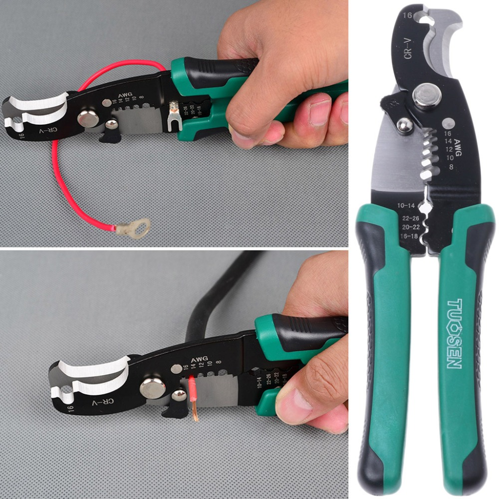 Crimping Pliers Durable Crimping Tool Electrician Plier 8 Inch Wire Stripper