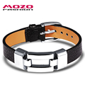 MOZO FASHION Jewelry Synthesis Leather Black Red Men or Women Classical Bracelets Simple Personality Gifts for Woman Man MPH985
