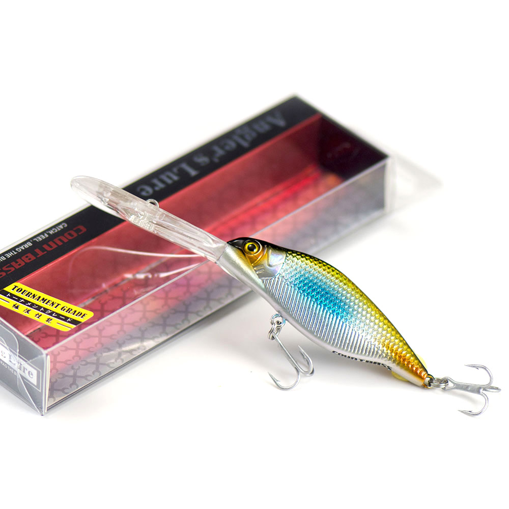 66mm 9.2g Countbass Deep Crank Bait Wobbler Lures for Fishing, Chatterbait Jerk baits Shad Crank Minnow Angler's Lure-2