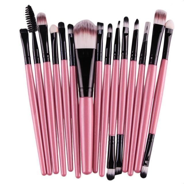15 PCS Best Professional Makeup Brush Set for Eye Shadow Eyebrow Lip