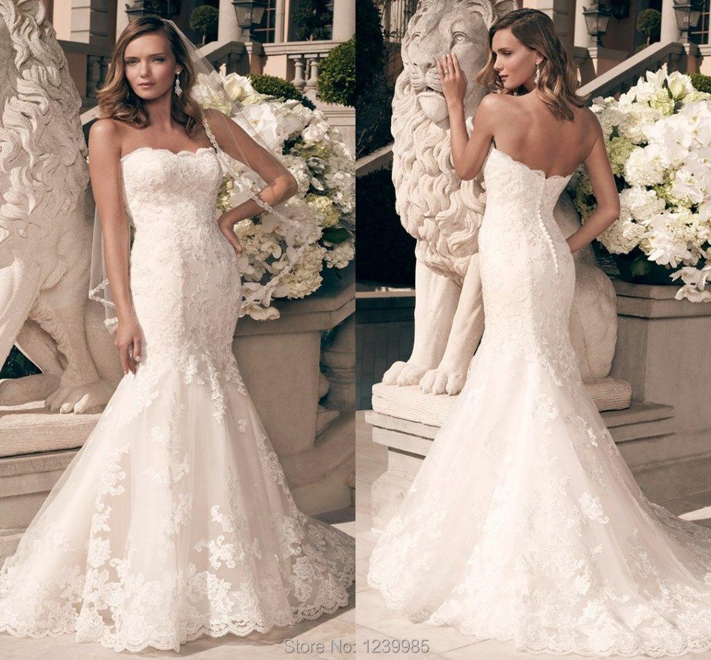 casablanca bridal zinnia strapless lace fit flare wedding dress casa blanca wedding dresses Casablanca Bridal Zinnia Strapless Lace Fit Flare Wedding Dress