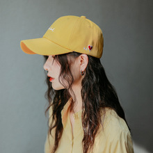 Letter red Heart Embroidery Baseball Cap Hat Women Summer Fall Hip Hop Snapback Caps Casual Sun Hats Men Adjustable Cotton Cap