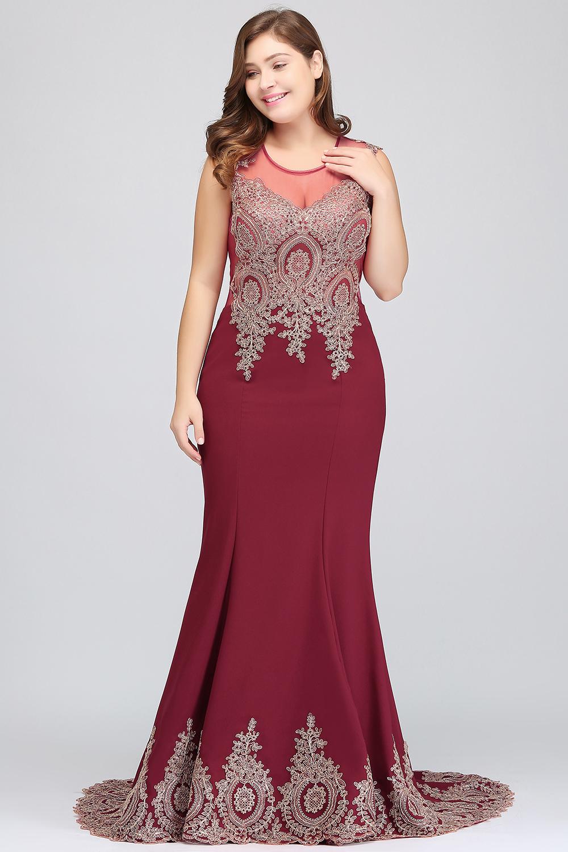 HTB1pyOZeNHI8KJjy1zbq6yxdpXakPlus size Evening Dress Burgundy Formal Gown