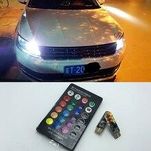 T10 W5W 194 168 светодиодные лампы габаритные фонари для автомобиля с пультом дистанционного управления для AUDI A2 A4 8L 8P B5 B6 A6 4B 4F A8 D2 TT C5 C6 C7 S2 S4 Q3 Q5 Q7