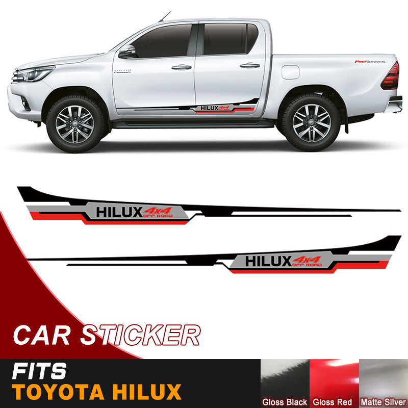 "Black Rear Sticker /"" Hilux /"" Decal Fits Toyota Hilux Vigo Champ Sr5 Mk6 05 2014"