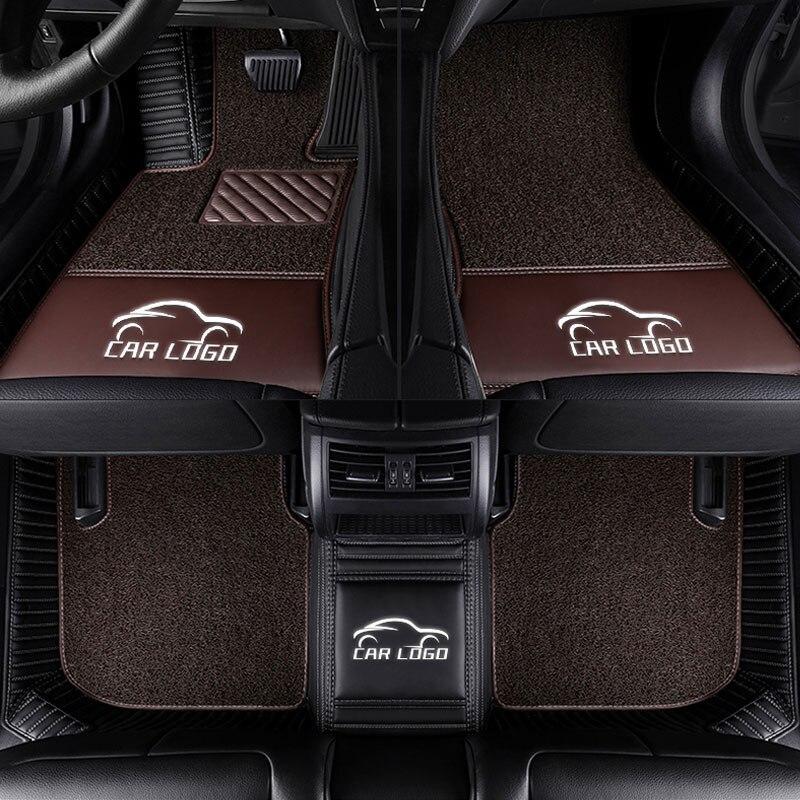 Car floor mats for Tesla logo Model S X fit Jaguar F PACE F TYPE XF