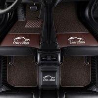 Car floor mats for Tesla logo Model S /X fit Jaguar F PACE F TYPE XF XJ XE XFL for Alfa Romeo Stelvio Giulia car styling carpet