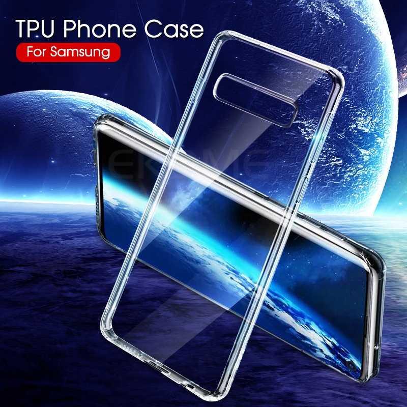 Caso TPU macio Para Samsung Galaxy S10 S9 Plus S10E S8 Nota 9 8 Limpar Capa Protetora de Silicone Para Samsung s8 Plus S6 S7 Borda