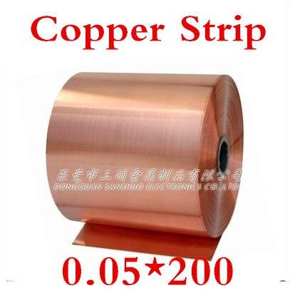 Kupfer Streifen 2019 Neuestes Design 2 Meter 0,05x200mm 0,05mm Hochwertigen Kupferfolie Kupferband