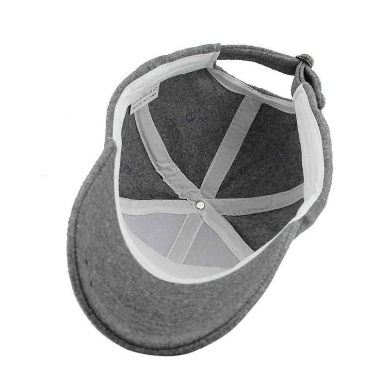 ef5e3d4a42c FETSBUY Wholesale Warm Winter Fedora Baseball Cap Men Brand Snapback Black Solid  Bone Casquette Baseball Mens Winter Hats Gorras-in Baseball Caps from ...