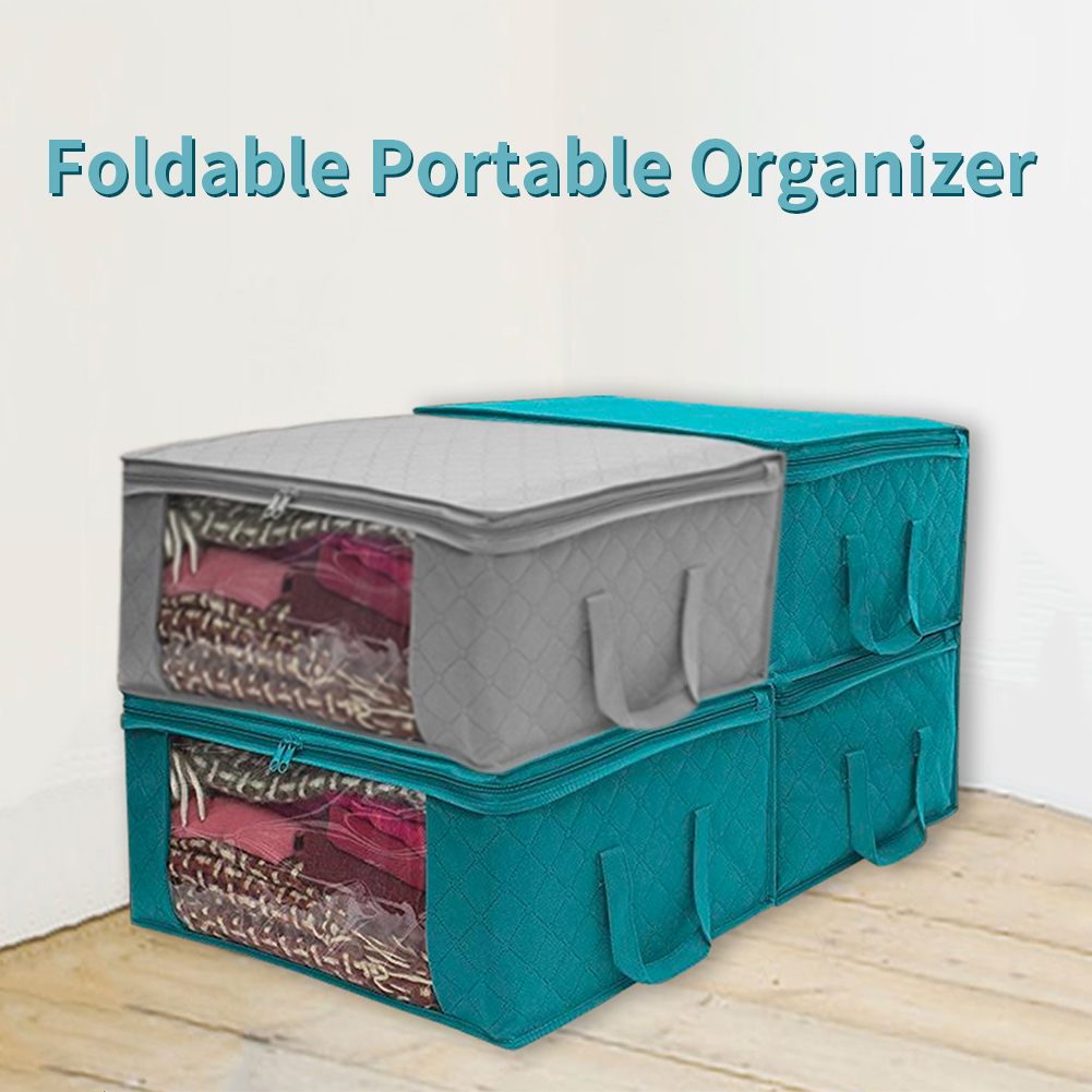 Container-Bag Suitcase Tidy-Pouch Storage-Box Quilt Portable-Organizer Foldable Home