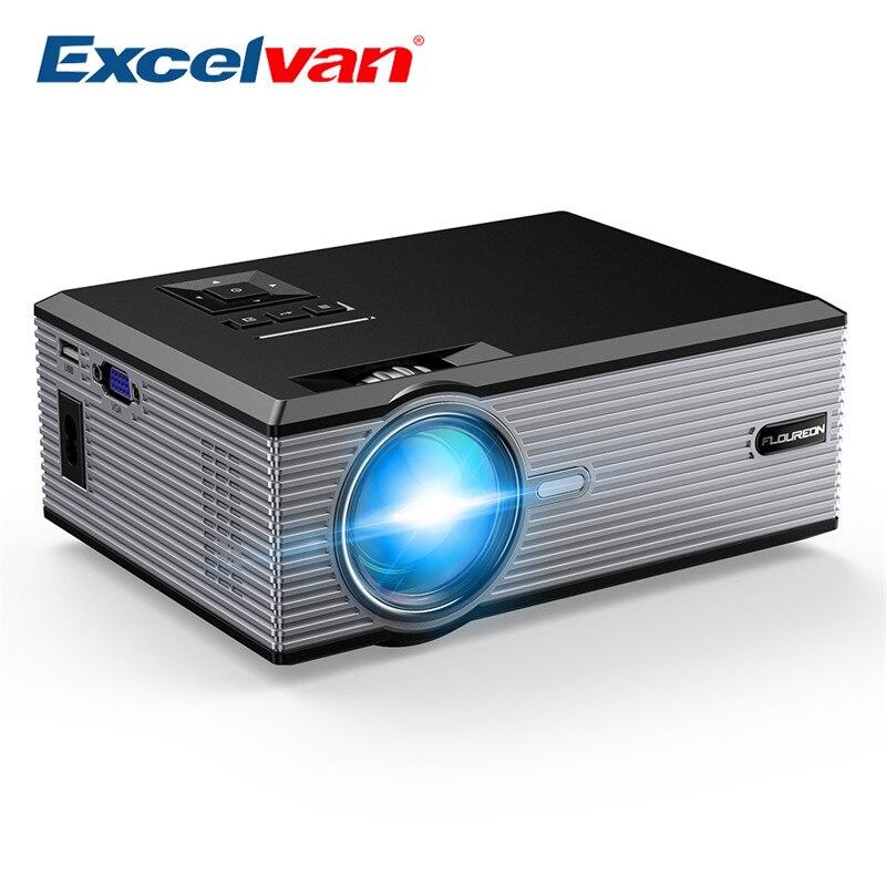 Excelvan Floureon BL88 projecteur Portable LED cinéma vidéo numérique HD Home cinéma 2000 Lumens 4 K projecteur maison HDMI Proyector