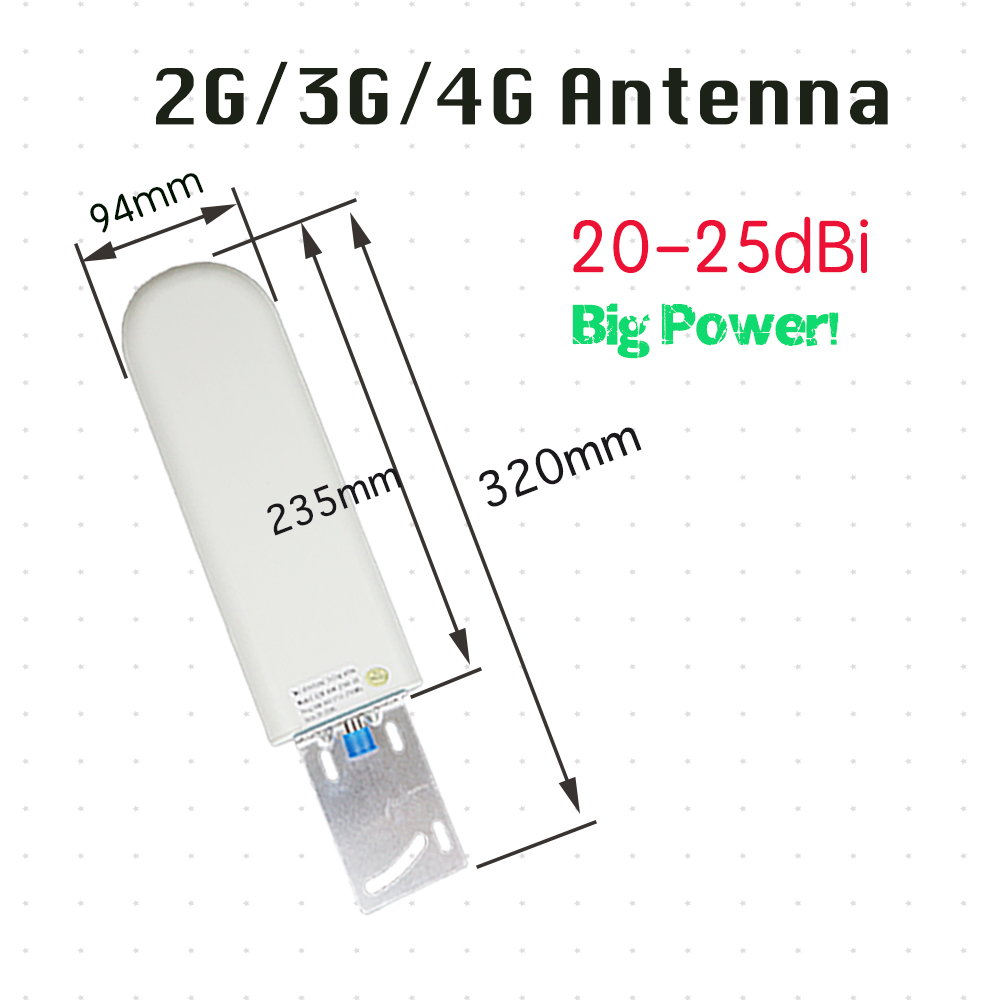ZQTMAX 20 25dbi Outdoor Antenna For 2G 3G 4G Signal Booster Receive 698 2700mhz Cellphone Cellular Data Repeater