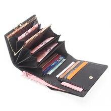 Marke frauen Brieftasche Schlangenmuster Aus Echtem Leder Kurze Weibliche Clutch Kartenhalter Hohe Kapazität Damen Münzfach