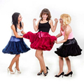 Buenos NInos Extra Fluffy Teenage Adult Women Pettiskirt Tutu Party Dance Girl Skirt Performance Clothing