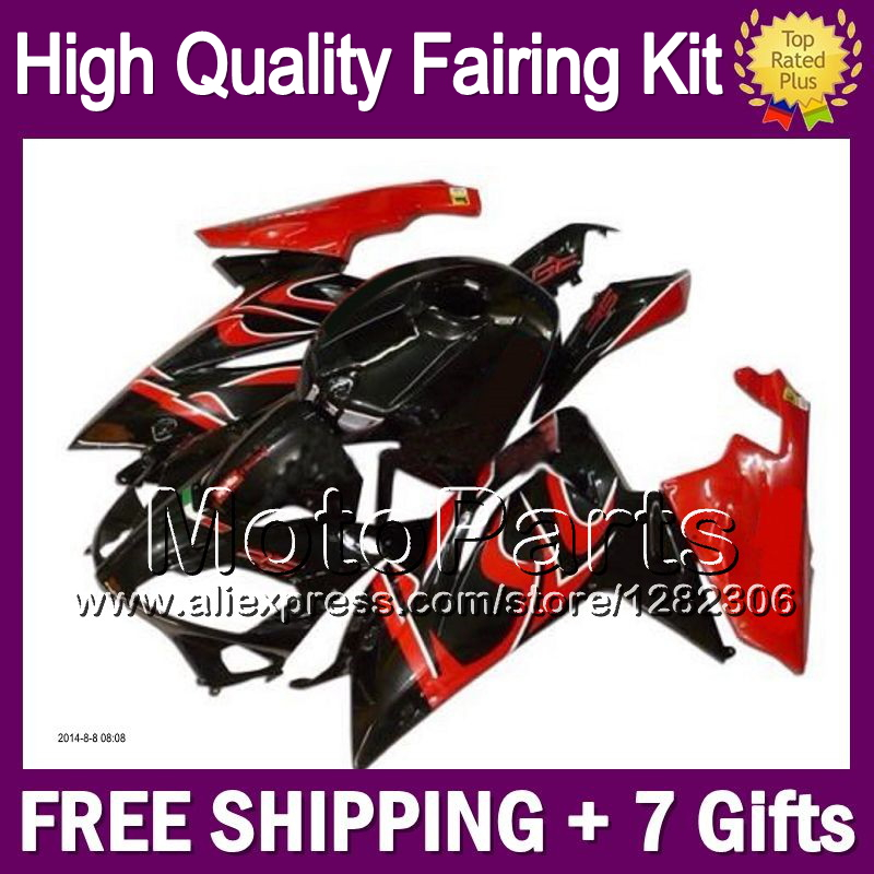 7giftsRed black Aprilia RS4 125 RS125 99 00 01 02 03 05 7MP33 RSV125 99-05 RS 1999 2001 2002 2003 2005 Red Fairing  -  MotoParts store