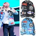 Kpop 2016 novo BTS Bangtan Meninos Mood for Love O mesmo parágrafo casaco do uniforme de Beisebol Bigbang Hoodies versão Coreana SUGA jaqueta