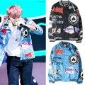 Kpop 2016 nueva BTS Bangtan niños del estado de Ánimo para el Amor La mismo párrafo de Béisbol capa uniforme SUGA Bigbang versión Coreana Sudaderas Con Capucha chaqueta