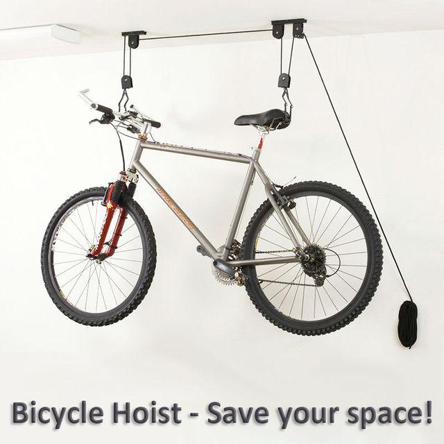 v lo v lo ascenseur plafond mont palan garage de stockage bike hanger conomiser de l 39 espace. Black Bedroom Furniture Sets. Home Design Ideas