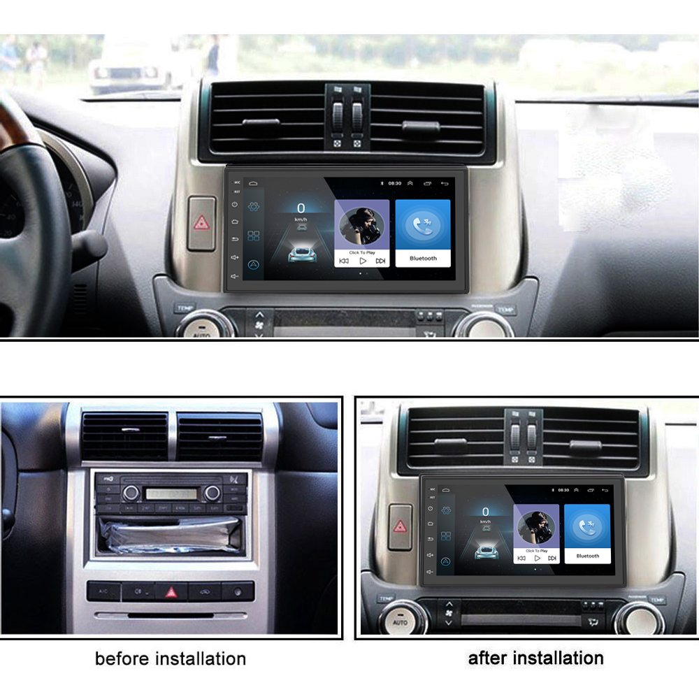 S6 2 Din Car Stereo Android 8,1 Quad Core 7 pulgadas de navegación GPS Auto Radio enlace espejo Bluetooth Video de música 1 GB de RAM 16 GBROM - 4