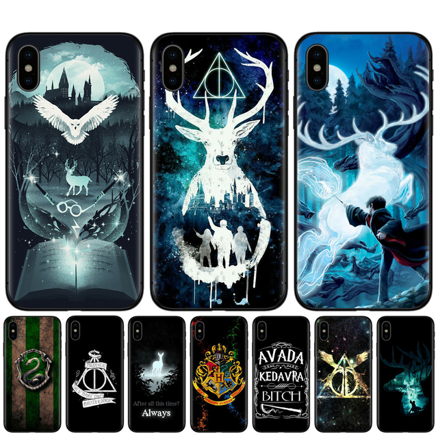 brand new e39cf 813e2 US $1.03 30% OFF|KACKYFUL For iphone 7 Case Harry Potter Hufflepuff  Ravenclaw Slytherin Phone Case For iPhone 8 7 6 6S Plus X XR XS Max 5S  SE-in ...