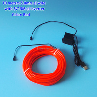 High Quality 10 Colors Choice 5 0mm 10Meters EL Wire LED Thread Neon Light For Night
