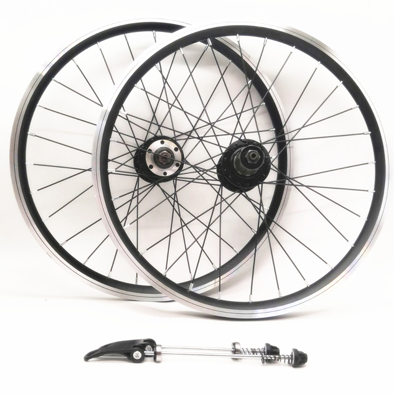 20 inch 406 folding bicycle casette wheelset v brake/disc brakes double aluminum alloy rim sealed bearing wheels 28 hole20 inch 406 folding bicycle casette wheelset v brake/disc brakes double aluminum alloy rim sealed bearing wheels 28 hole