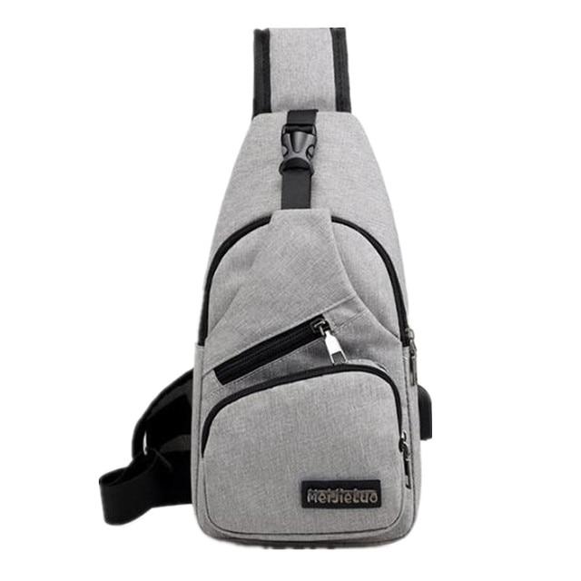 New Arrival men s Chest Bag Shoulder Bags USB Charging Bags Men Anti Theft School Summer Short Trip Messengers Bag