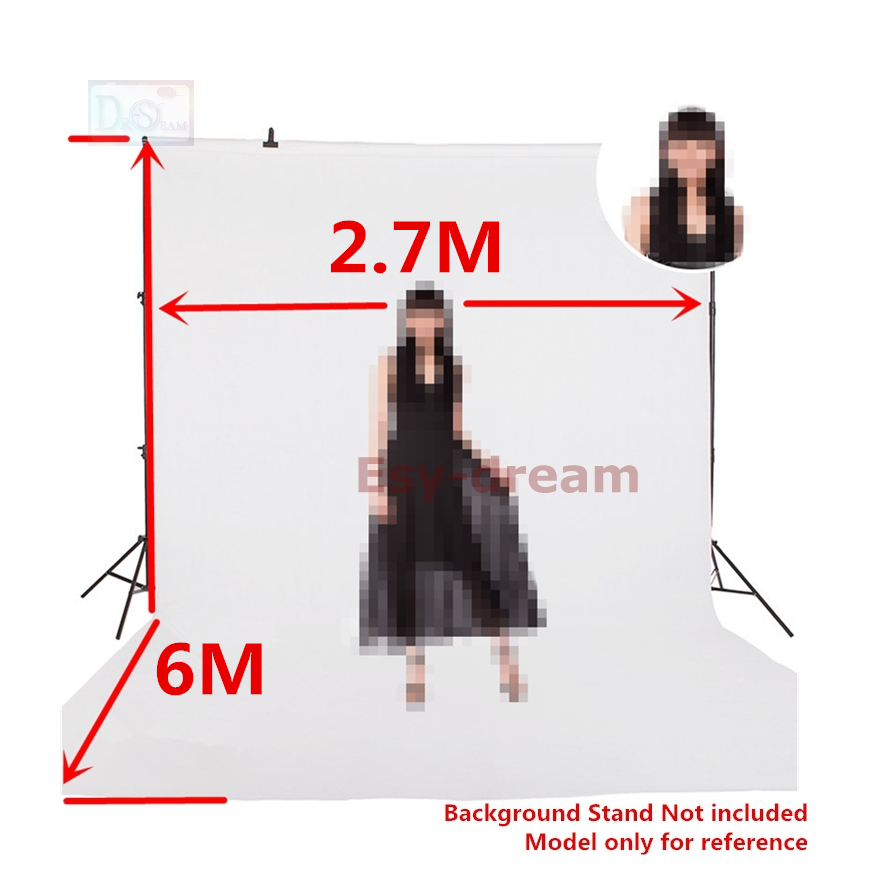 2.7*6m 8.85*19.68ft White Black Non-woven Fabric Photo Foto Photography Backdrops Background Cloth for Studio 3 x 6M 10 x 20ft 3m 6m 10ft 20ft mirror candle carnation photography backdrops seniorwedding backgroundcm 5816