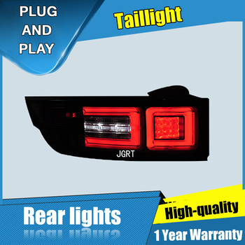 2PCS Car Styling for Land Rover Evoque Taillights 2012-2014  for  Evoque  LED Tail Lamp+Turn Signal+Brake+Reverse LED light