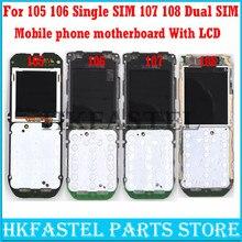 HKFASTEL-placa base para Nokia 105 106, Tarjeta SIM única 107 108, Tarjeta SIM Dual, reemplazo de placa base de teléfono móvil con pantalla LCD