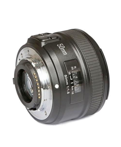 Stock prêt! Objectif principal YONGNUO YN50mm f1.8 pour mise au point automatique à grande ouverture NIKON
