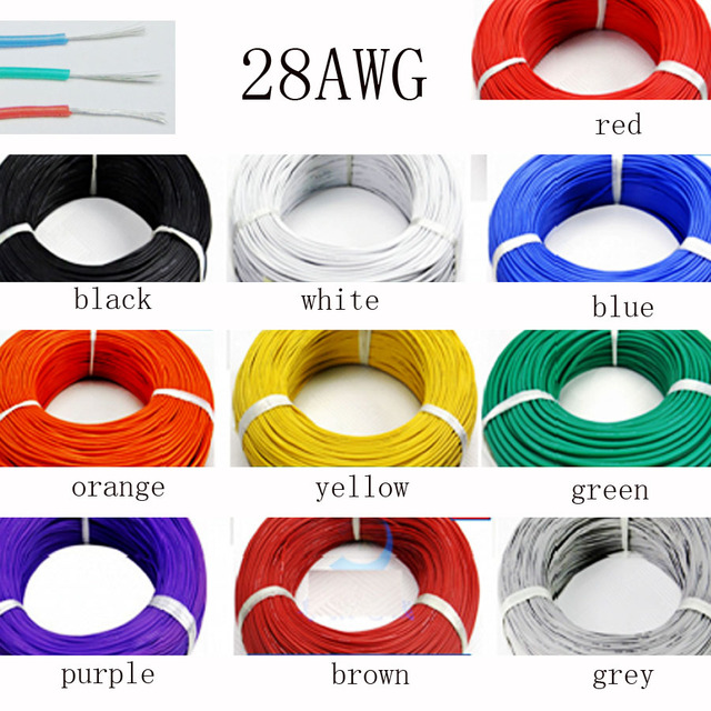100 meter 28AWG Weiche Silikon Kabel 0.08mm2 Ultra Flexiable ...