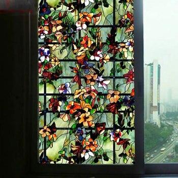 Película de vidrio para ventana Saturna, pegatinas estáticas para oficina, papel autoadhesivo para el hogar, películas decorativas 40/45/50/60/70/80*100cm