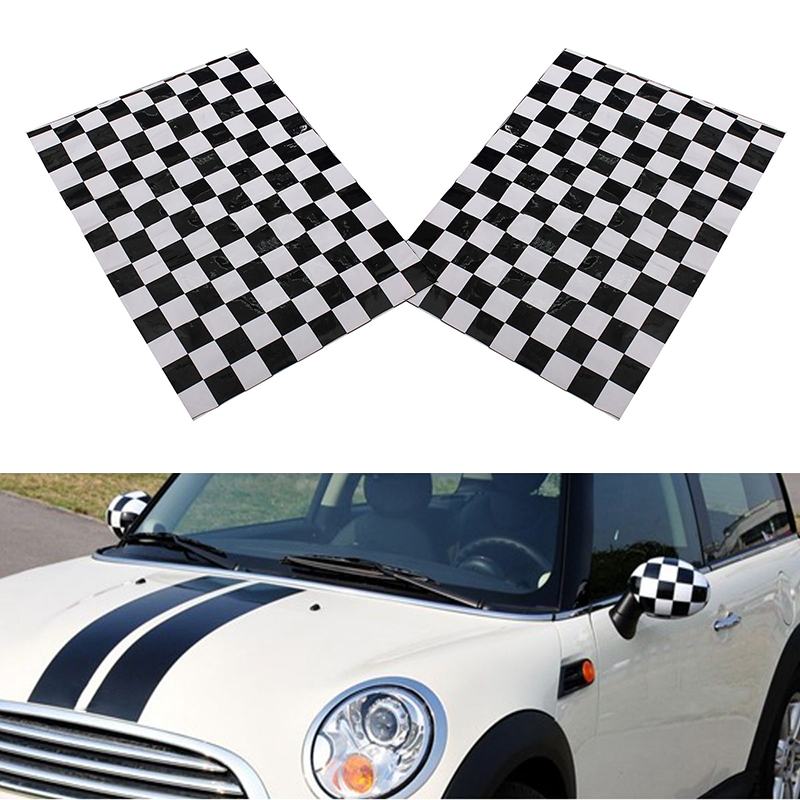 Image 5 - Vinyl Car Mirror Sticker Side 38.5x29.7cm 2pcs Decorative Fit Auto Accessories-in Car Stickers from Automobiles & Motorcycles