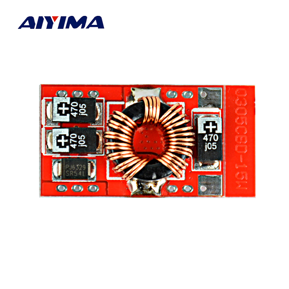 Aiyima DC-DC Boost Converter 3V 3.7V 4.2V Step-up 5V 3A 15W Lithium battery Mobile Power Module цена