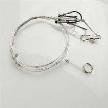 Hot Selling Stainless Steel Fishing Rigs Wire Leader 5 small hooks Swivel String Hook 8# -11# Fishing Tackle Accessories