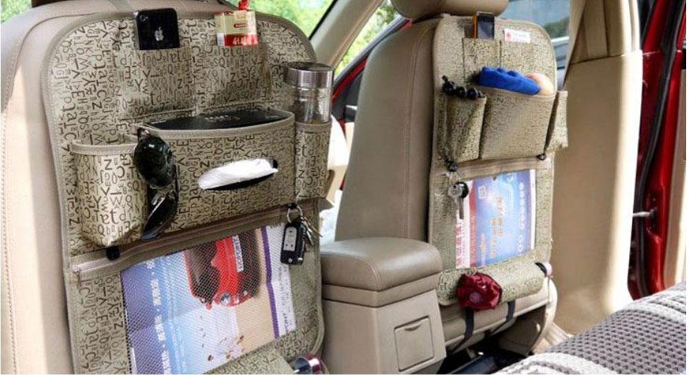 Car Organizer waterproof Car seat covers protector mat Car Storage Bags Seat Back Protector Case Cover Multi-Purpose 6