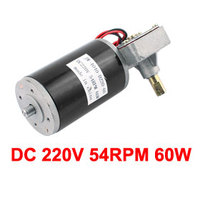 UXCELL Hot Sale 1 Pcs JW 4040 D220 60 DC 220V 54RPM 60W DC Geared Motor for Electronic Game Machine
